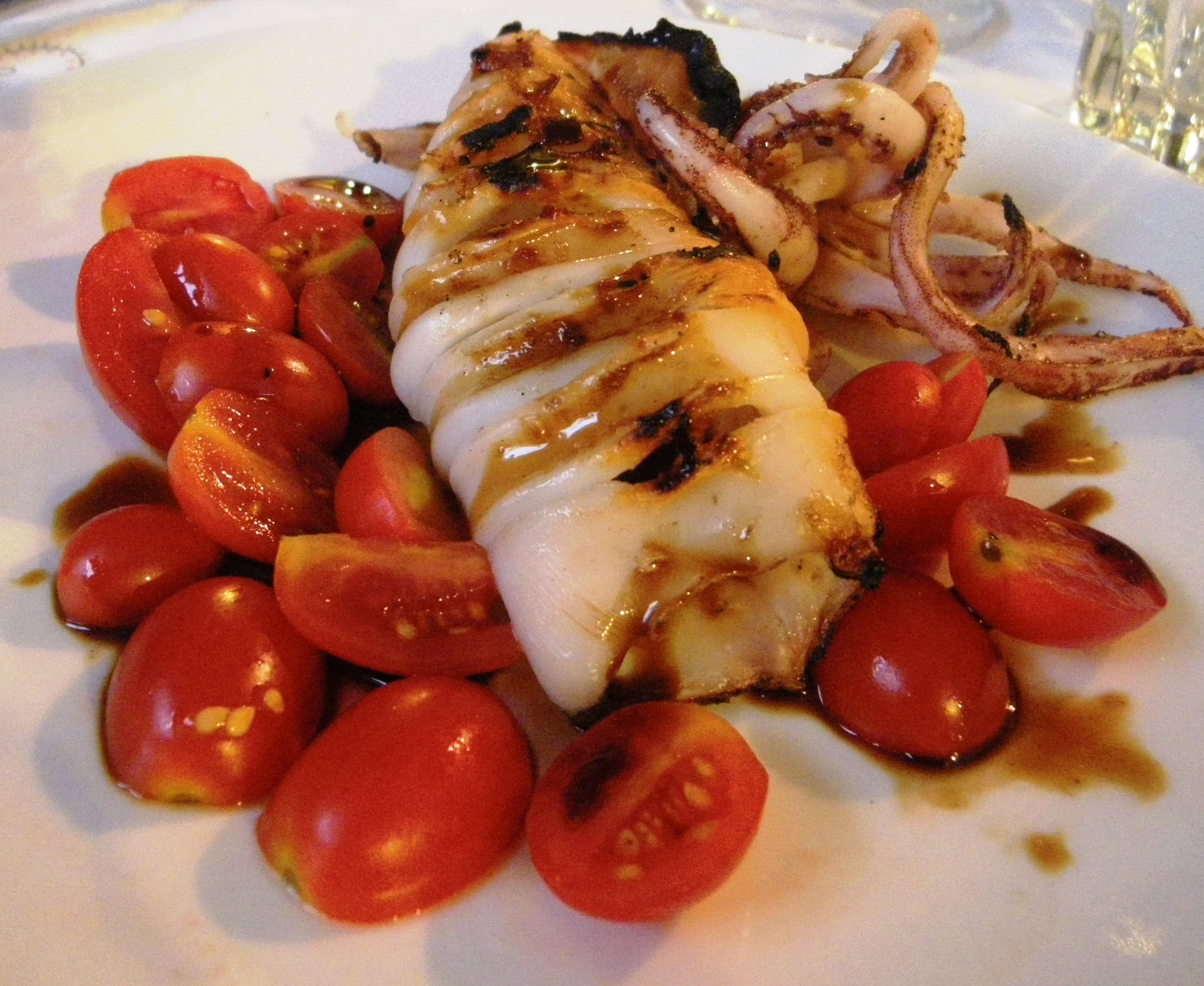 Calamari with honey & balsamic vinegar
