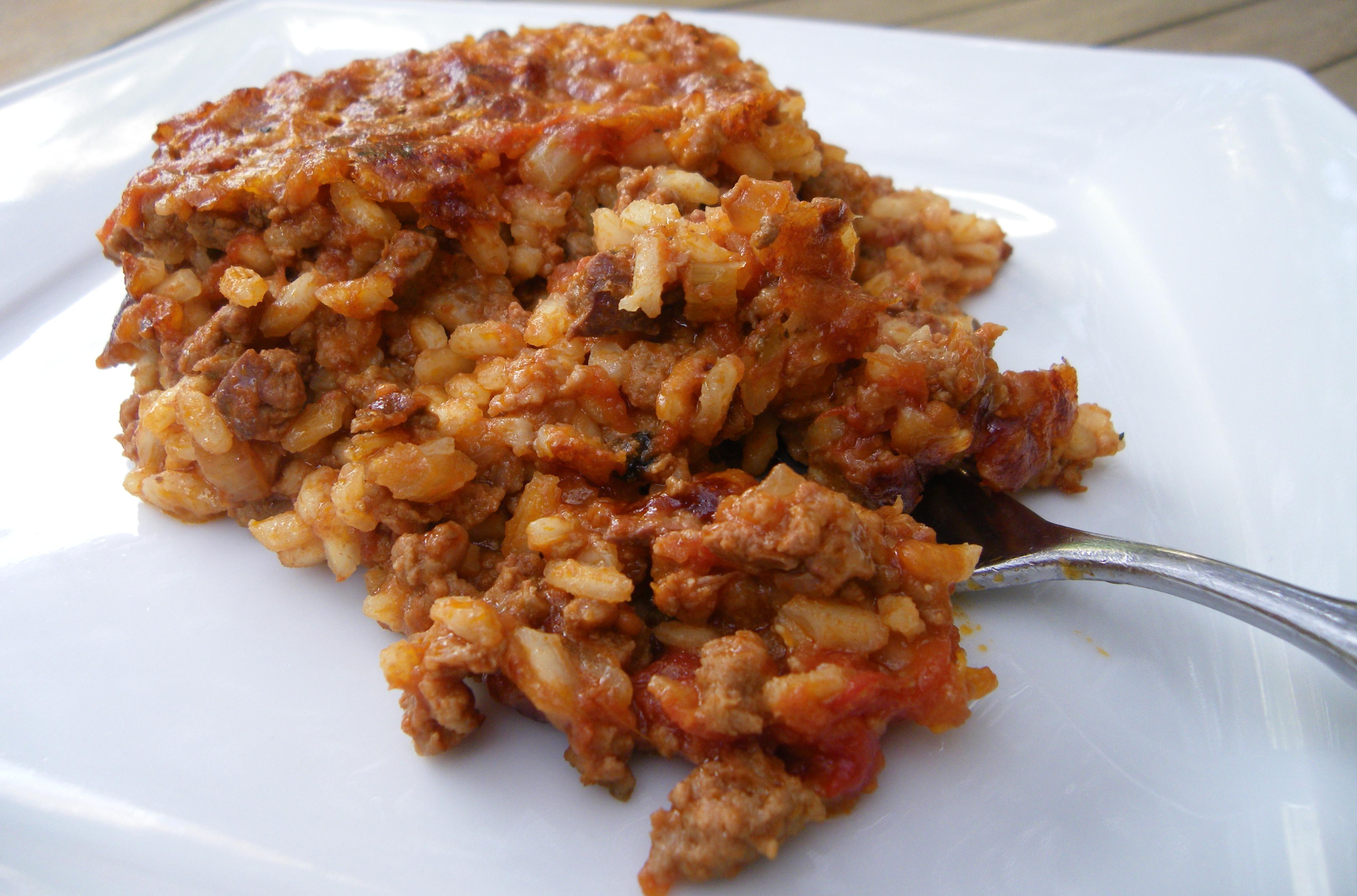 Baked carnaroli rice